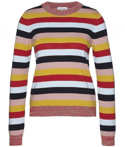 "Strickpullover ""Oxana Multi Stripes"" - rot/blau/pink"