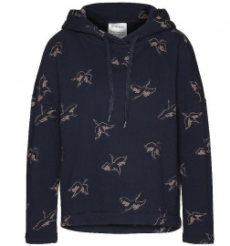 "Hoodie ""Ainara Cranes In The Sky"" - navy"