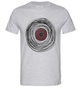 "T-Shirt ""James Single"" - grau melange"