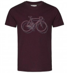 "T-Shirt ""James Bike On Bike"" - rot"