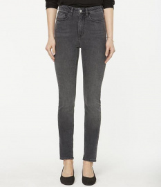 "Highwaist-Jeans ""Ingaa"" - grey wash"