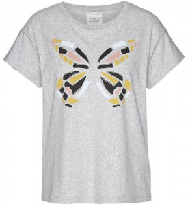 "Shirt ""Nela Big Butterfly"" - grau melange"