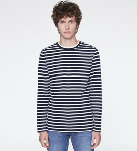 "Longsleeve ""Norman Stripes"" - marshmallow white"