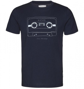 "T-Shirt ""James Mix Tape"" - navy"