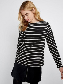 "Top ""Carol Stripe"" - black/white"