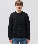 "Pullover Nudie ""Hampus Basket"" - noir"