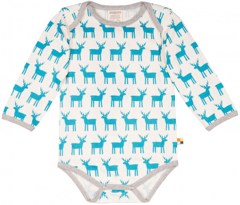 Printed Longsleeve Body - turquoise