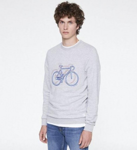 "Pullover ""Yorick Bike On Bike"" - grau melange"