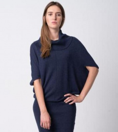Knit Dress - navy blue
