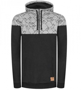 "Bleed ""Mountain Half-Zip"" - schwarz/grau"
