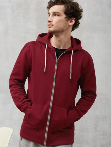 "Sweat-Zipper ""Basic"" - burgund"