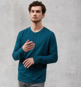 Men's Heavy Longsleeve Raglan - deep teal