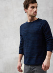 "Leichter Strickpulli ""Light Knit Flecked"" - navy/blau"
