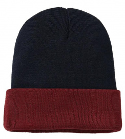 "Bonnet ""BiColor"" - navy/burgundy"