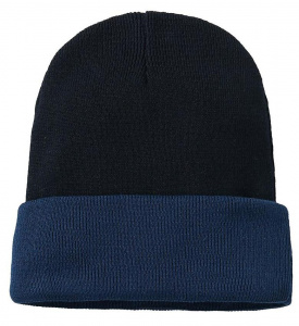 "Knit Beanie ""BiColor"" - navy/blue"