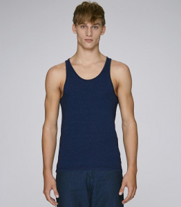 "Tanktop ""Stanley Runs Denim"" - dark washed denim"
