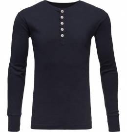 Rib Knit Henley - total eclipse