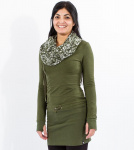 Winter Hood Dress (hemp) - jungle green