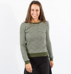 "Sweater ""Arabic Retro"" (hemp) - jungle green"