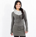 Winter Hood Dress (hemp) - light grey