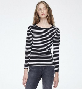 "Longsleeve ""Valentina Stripes"" - black"