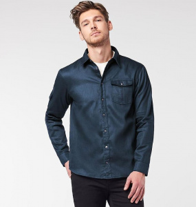 Men's Jacket Shirt - dunkelblau