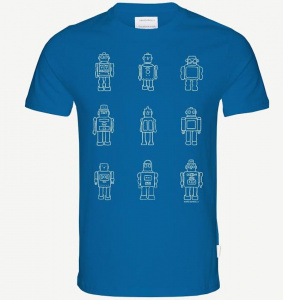 "T-Shirt ""Jaames Future Friends"" - hellblau"
