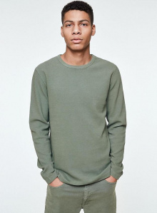 "Longsleeve ""Niaam"" - light green olive"