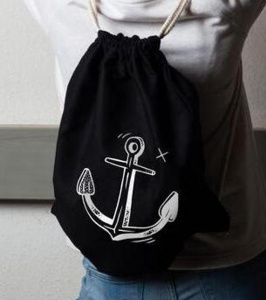 "Sac de gym ""Anchor"" - noir"
