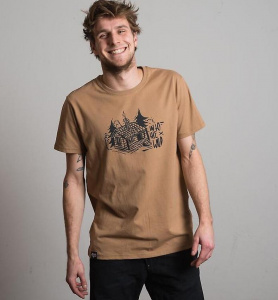 "Herren T-Shirt ""Into The Wild"" - camel"