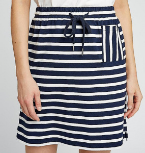 Leia Stripe Skirt - navy