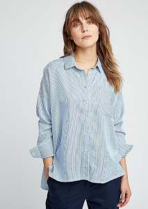 Alice Stripe Shirt - blue