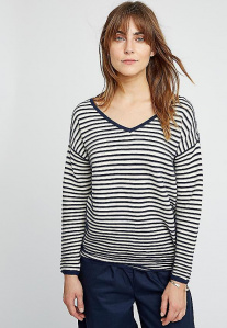 Danni Stripe Jumper - navy