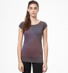 "Damen T-Shirt ""Spacegrid"" - dunkelgrau"