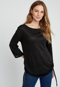 Giselle Linen Top - black