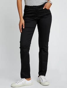 Laurie Straight Stretch Trousers - black
