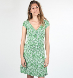 "Party Dress ""Palm Leaves"" - leaf green"