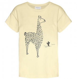 "Shirt ""Nelaa Llama In The Desert"" - vanille"