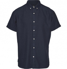 Tencel™/Cotton Short Sleeved Shirt - total eclipse