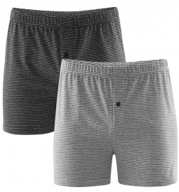 Mens Boxer-Shorts, 2Pack - grey/anthracite