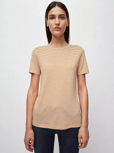 "Shirt ""Lidaa Ring Stripes"" - karamell/weiß"