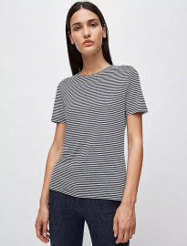 "Shirt ""Lidaa Ring Stripes"" - blau/weiß"