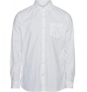 Stretched Oxford Shirt - weiß