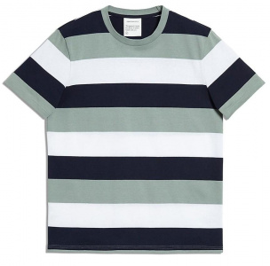 "T-Shirt ""Daarian Blockstripes"" - blaugrün/navy"
