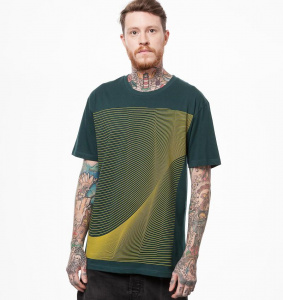 "T-Shirt ""Air"" - gelb/teal"