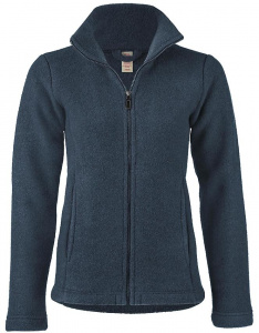 Damenjacke aus Wollfleece - atlantik