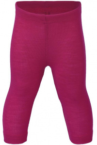 Baby Leggins, wool/silk - raspberry
