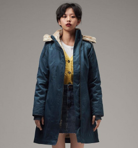 Ladies Long Coat - sky blue