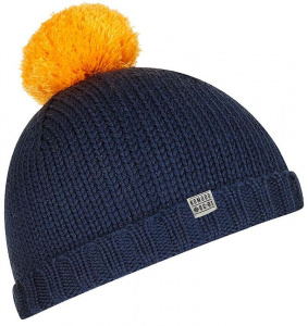 "Knit Hat ""Lucy"" (wool) - navy/marigold"
