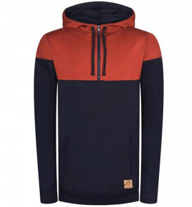 "Bleed Kapuzenpullover ""Mountain Active"" - rot/navy"